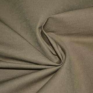 Коттон стрейч костюмный коричневый светлый ш.150