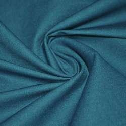 Коттон стрейч костюмный темно-бирюзовый ш.150