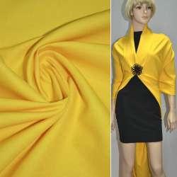 Котон стрейч костюмний жовтий ш.150