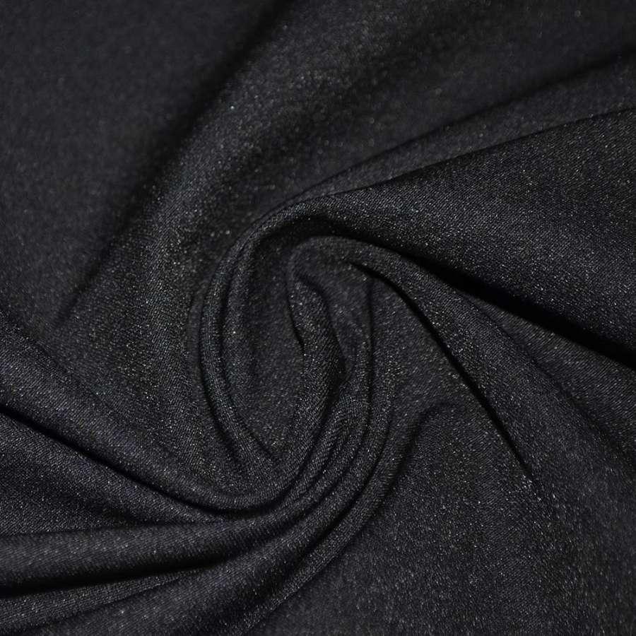 Котон стрейч костюмний чорний ш.150