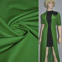 Коттон стрейч костюмный зеленый темный ш.150