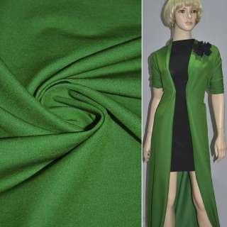 Котон стрейч костюмний зелений темний ш.150