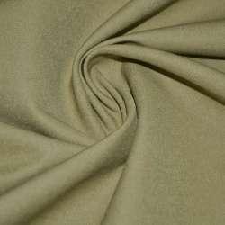 Коттон стрейч костюмный коричнево-желтый ш.150