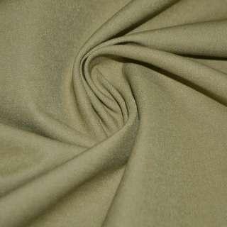 Котон стрейч костюмний коричнево-жовтий ш.150