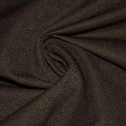 Коттон стрейч костюмный коричневый темный ш.150