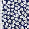 Коттон стрейч синий с белыми ромашками ш.145