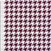 Коттон стрейч белый в бордовую гусиную лапку ш.148