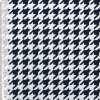 Коттон стрейч белый в темно-синюю гусиную лапку ш.148