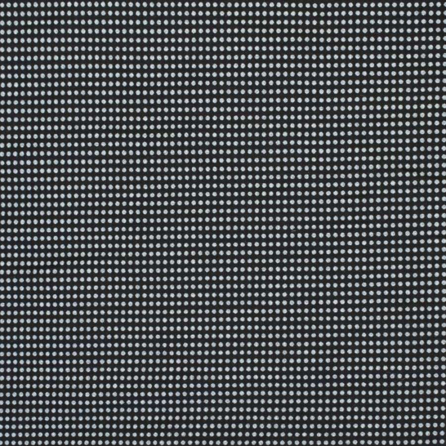 Коттон-стрейч черный в белую точку, ш.150