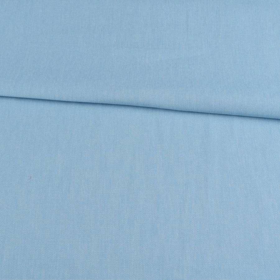 Коттон меланж стрейч бирюзовый полотняный, ш.150