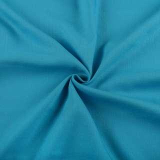 Бавовна з льоном блакитна яскрава ш.150