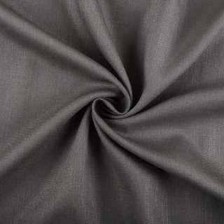Бавовна з льоном сіра темна ш.150