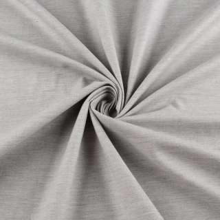 Коттон стрейч серый светлый меланж ш.150