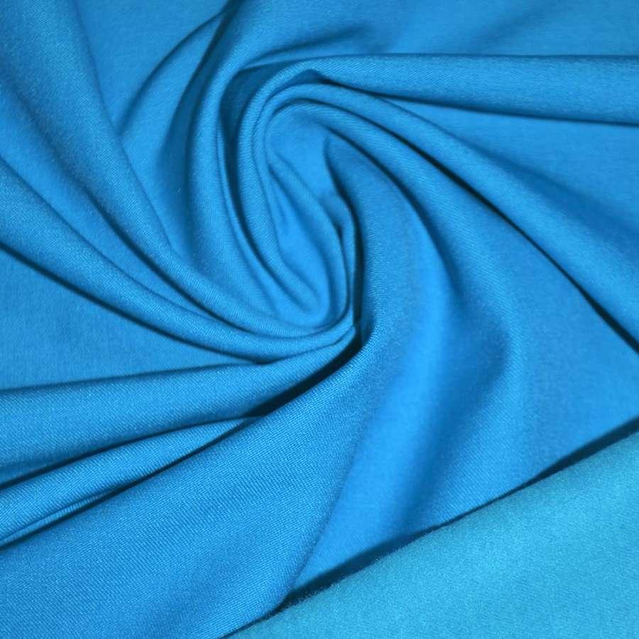Коттон стрейч костюмный с начесом голубой ш.140