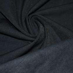 Коттон стрейч костюмный с начесом синий темный ш.140