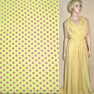 Купра Діллон жовта в рожевий горох ш.150