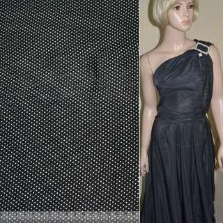Купра диллон черная в мелкий белый горох ш.145