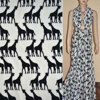 Купра диллон молочная с черными жирафами ш.150