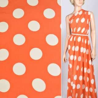 Купра диллон оранжево красный с молочными кругами ш.150