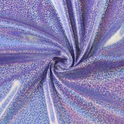 Трикотаж фиолетовый с серебристой голограммой ш.150
