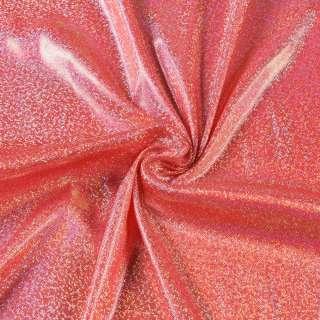 Трикотаж червоний з сріблястою голограмою ш.150
