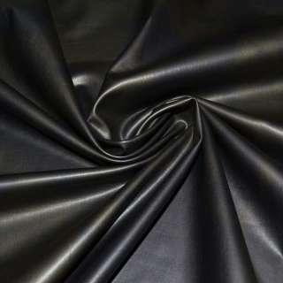 Трикотаж чорний, під шкіру ш.150