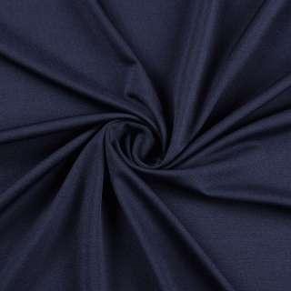 Лайкра тонкая синяя темная, ш.165