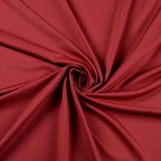 Лайкра тонкая красная темная, ш.160