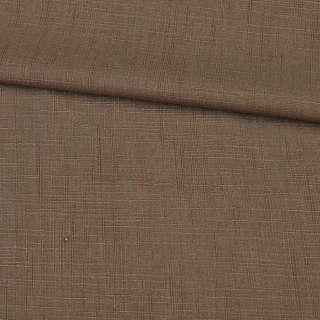 Льон костюмний світло-коричневий з бавовною, ш.140