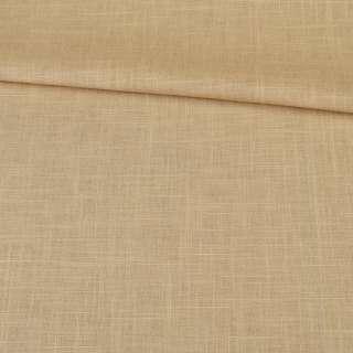 лен-коттон горчичный со штрихами ш.140