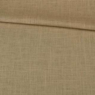лен-коттон т/оливковый со штрихами ш.140