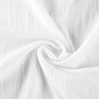 Льон котон щільний жатий білий, ш.135