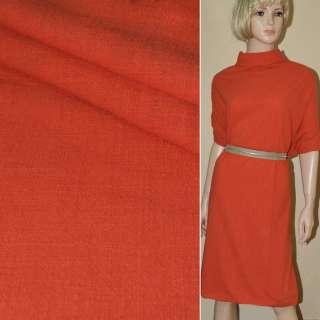 Льон-котон стрейч оранжево-червоний ш.140