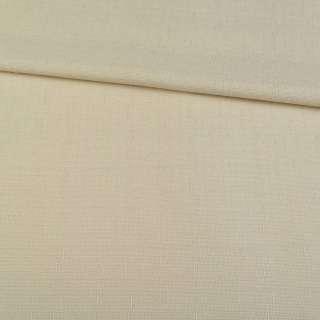 Льон костюмний пісочний в дрібний рубчик ш.140