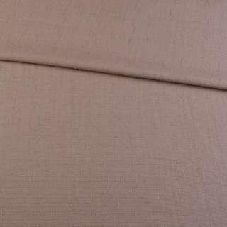 Лен костюмный с мелкими штрихами коричневый светлый с розовым оттенком ш.145