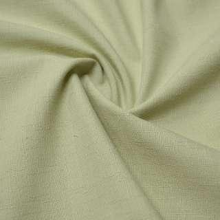 Лен костюмный оливковый светлый ш.140
