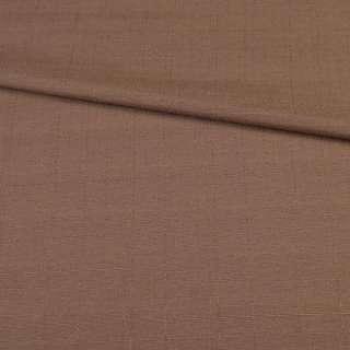 Льон костюмний з дрібними штрихами коричневий ш.145