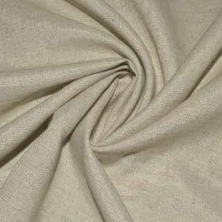 Льон костюмний пісочний, ш.145