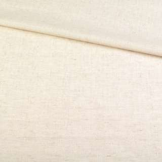 Лен молочный в короткий рубчик, ш.150