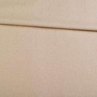 Льон костюмний бежевий в дрібний рубчик ш.140