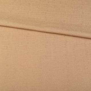 Льон костюмний бежевий темний в дрібний рубчик ш.140