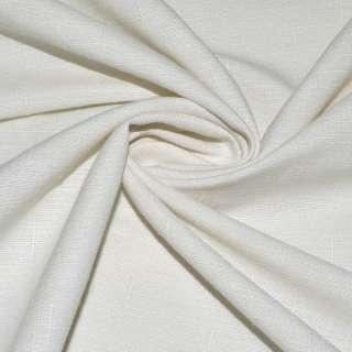 Льон костюмний молочно-сірий в дрібний рубчик ш.140