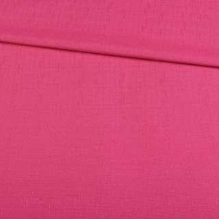 Льон костюмний малиновий в дрібний рубчик ш.140