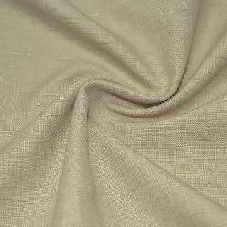 Льон костюмний з дрібними штрихами коричнево-молочний ш.14