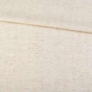 Льон костюмний з дрібними штрихами молочно-бежевий ш.145