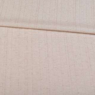 Льон костюмний з дрібними штрихами бежево-сірий ш.145