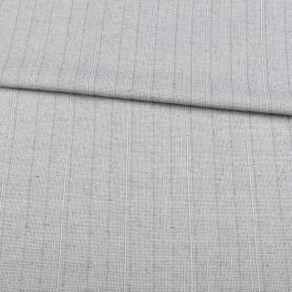 Льон костюмний з дрібними штрихами сірий світлий ш.145