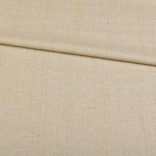 Льон костюмний з дрібними штрихами оливковий ш.145