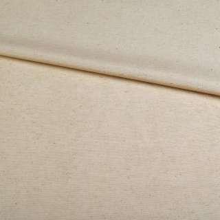 Льон костюмний бежево-молочний щільний ш.145