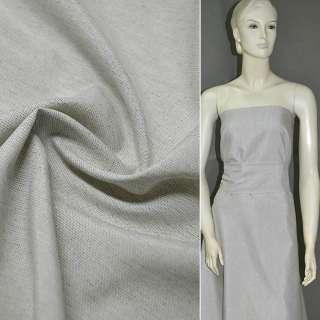 Льон костюмний сірий світлий ш.140